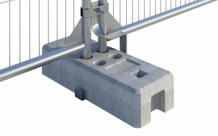 Antiløft, holder, sikkerhed til byggepladshegn, mobilhegn, byggehegn