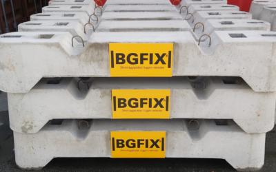 bgfix betonværn betonafspærring hoffmann klods