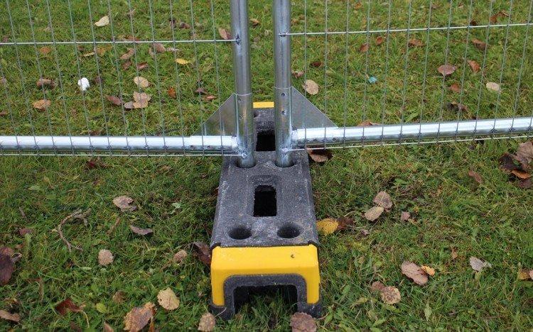 byggehegnsfod, byggepladshegnsfod, fod til byggepladshegn