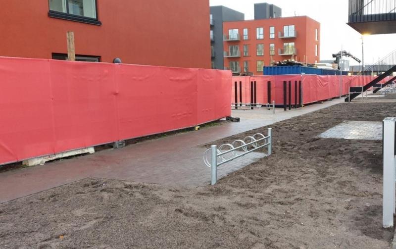 Hegnnet til byggepladshegn