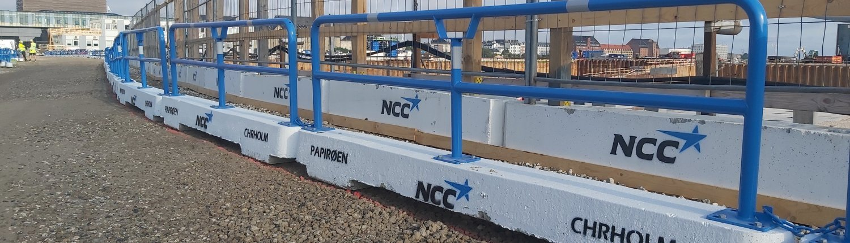 NCC papirøen publikumshegn ta balk afspærring bgfix
