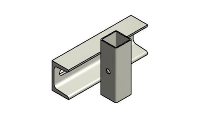 Balkonbeslag til rækværk, sikkerhedsrækværk