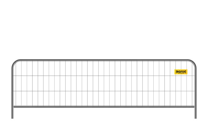 Publikumhegn som lavt byggepladshegn, Roundtop